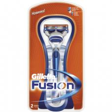 Бритва GILLETTE (Жиллет)  Fusion с 2 сменными кассетами, для мужчин, ш/к 74125