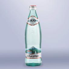 Вода газированная минеральная BORJOMI (БОРЖОМИ)  0,33л, стеклянная бутылка, ш/к 01339