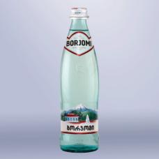 Вода газированная минеральная BORJOMI (БОРЖОМИ)  0,5л, стеклянная бутылка, ш/к 01346