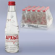 Вода газированная минеральная АРХЫЗ, 0,25л, стеклянная бутылка, ш/к 02042