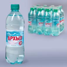 Вода газированная минеральная АРХЫЗ, 0,5л, пластиковая бутылка, ш/к 01540