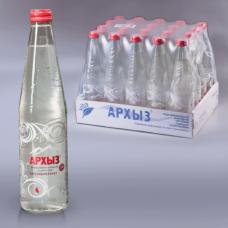 Вода газированная минеральная АРХЫЗ, 0,5л, стеклянная бутылка, ш/к 01731