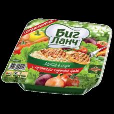 Лапша БИГ ЛАНЧ быстрого приготовления с соусом и курицей, 110г, чашка, вилка, ш/к51558