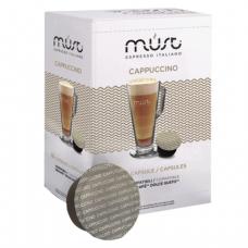 Капсулы для кофемашин DOLCE GUSTO CAPPUCCINO, натуральный кофе, 16 шт*7г, MUST 61357