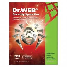 Антивирус DR.WEB Security Space, 2ПК 1год, бокс, BHW-B-12M-2A3