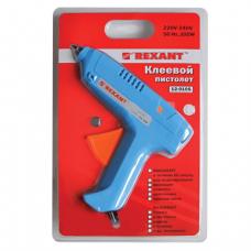 Клеевой пистолет REXANT, 100Вт для стержня 11мм, в блистере, 12-0105